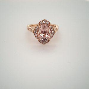 18ct Rose Gold Morganite Ring