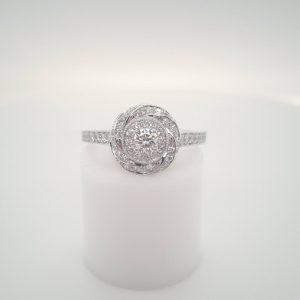 18ct Diamond Twist Engagement Ring