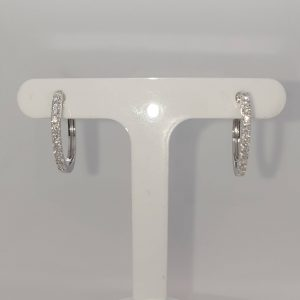 9ct Diamond Hoop Earrings