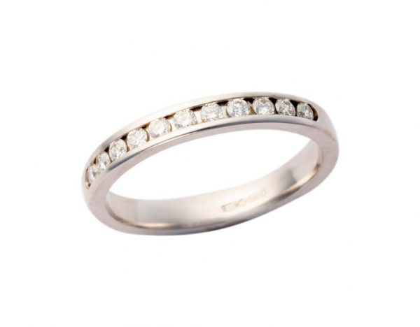 Platinum Diamond Wedding Band 275