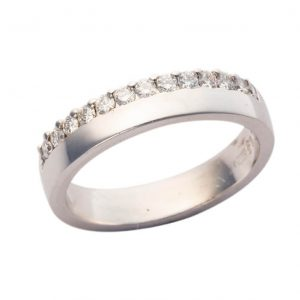 18ct White Gold Diamond Wedding Band MM045