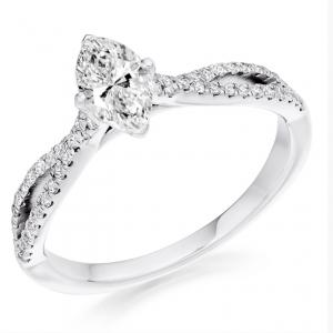 Platinum Marquise Engagement ring