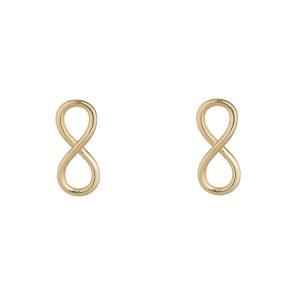 9ct Gold Infinity Earrings