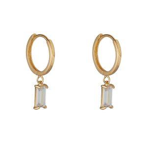 9ct Gold C/z Drop Earrings